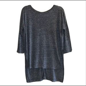 Old Navy Linen Blend Tunic Top Marled Grey